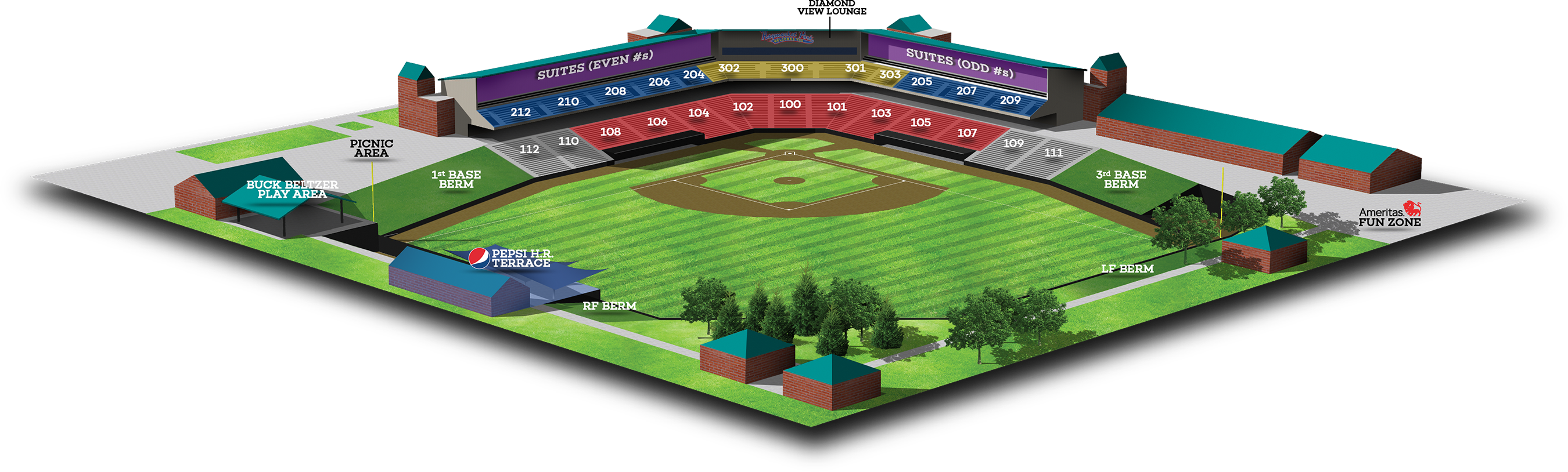 3D Stadium Seating Chart